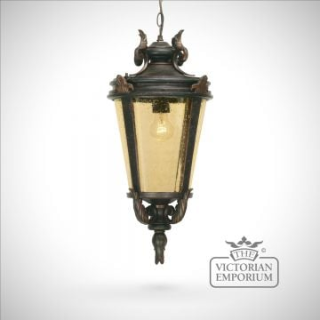 Dark bronze chain lantern - large