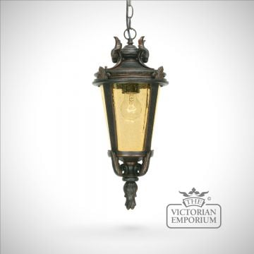 Dark bronze chain lantern - medium
