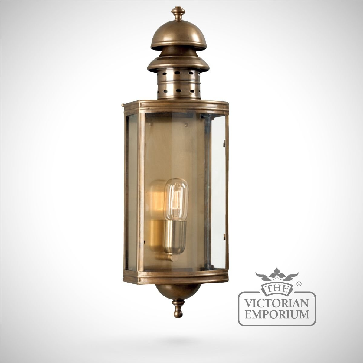 Downing Street Br Wall Lantern Antique