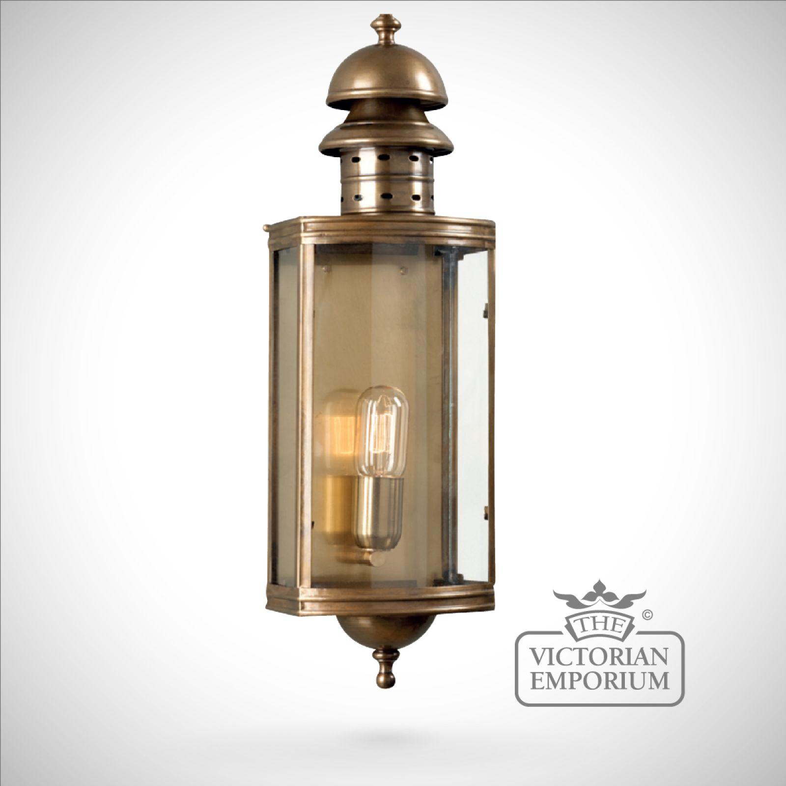 Downing Street Brass wall lantern - antique brass ...