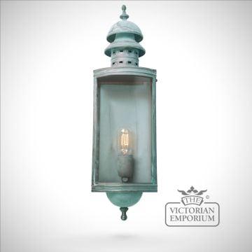 Downing Street Brass wall lantern - vert