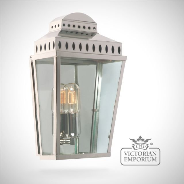 Mansion house wall lantern - polished nickel
