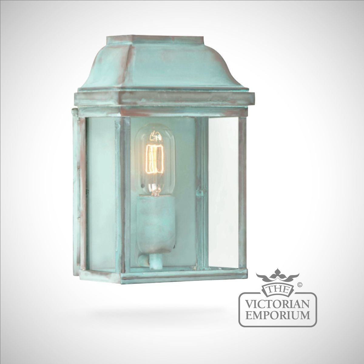 External Lantern Wall Lights : Victoria wall lantern - vert Outdoor Wall Lights