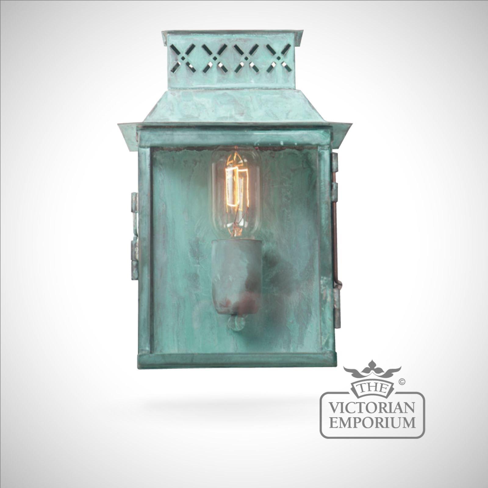 Lambeth Wall Lantern Vert Outdoor Wall Lights