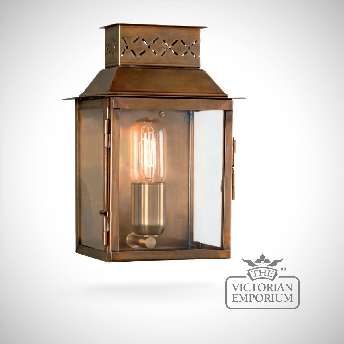 Lambeth wall lantern antique brass outdoor wall lights for Victorian style exterior lighting