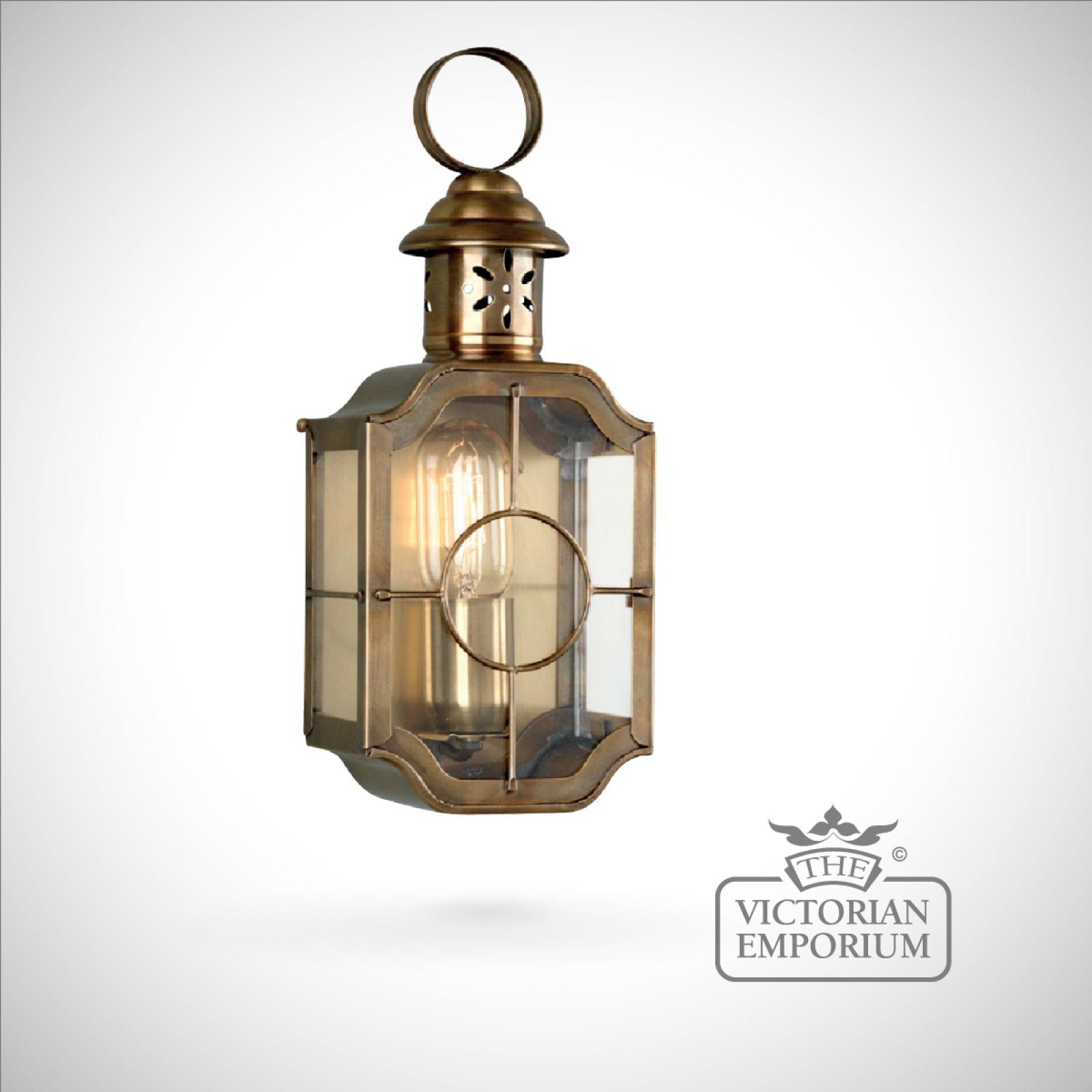 Kensington wall lantern antique brass Outdoor Wall Lights