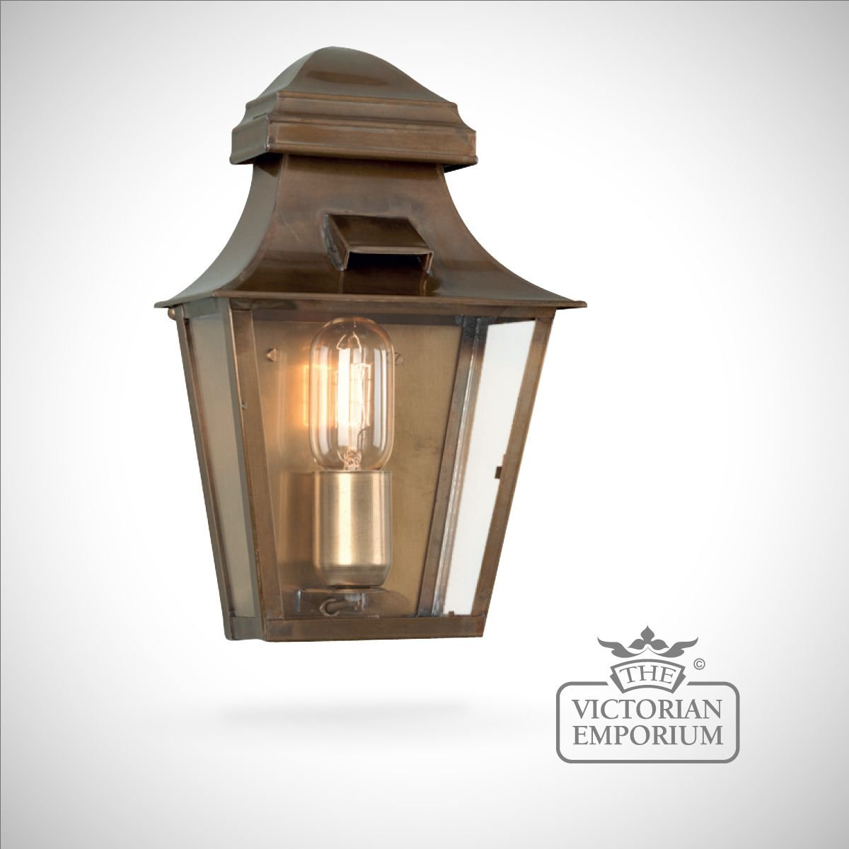 St Pauls Wall Lantern Antique Brass Outdoor Wall Lights