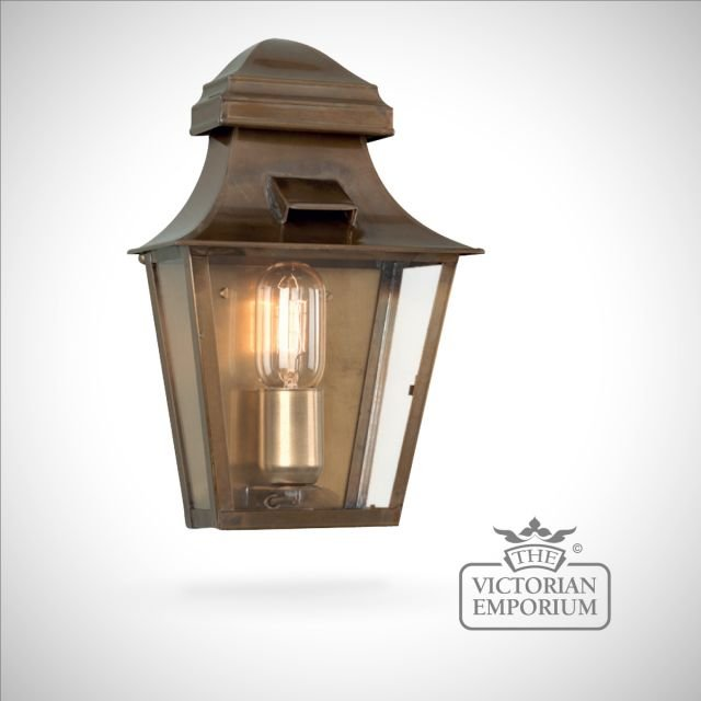 St Pauls wall lantern - antique brass