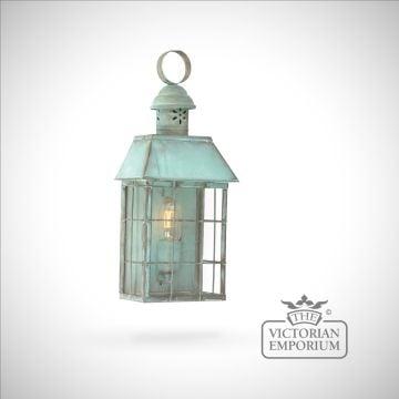 Hyde Park brass wall lantern - vert