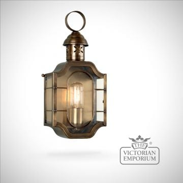 The Oval brass wall lantern - antique brass