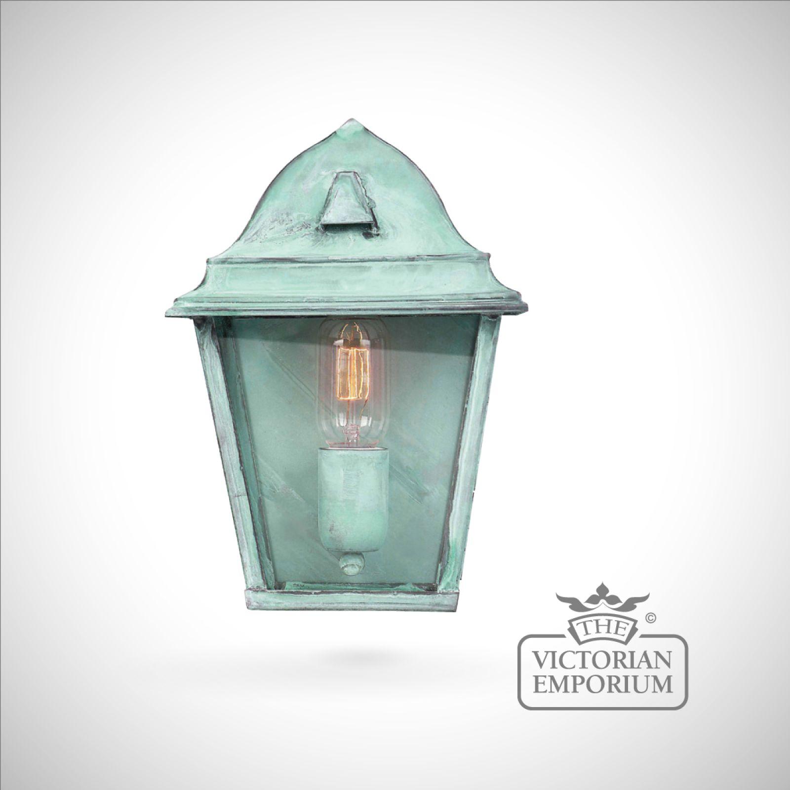 St james brass wall lantern vert outdoor wall lights for Victorian style exterior lighting