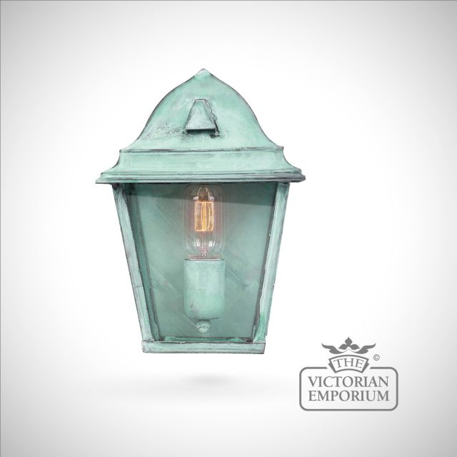 St James brass wall lantern - vert
