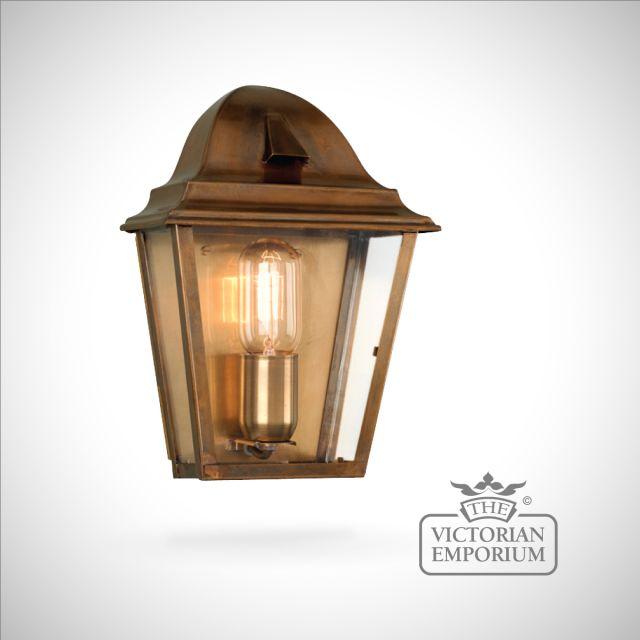 St James brass wall lantern - antique brass