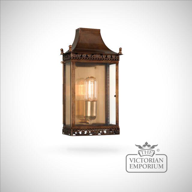 Regents brass wall lantern - antique brass
