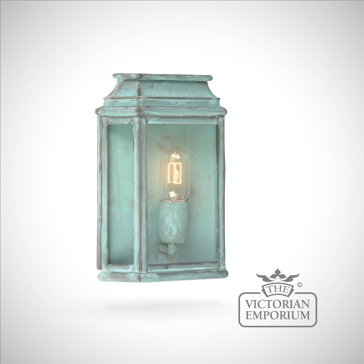 Martins Brass Wall Lantern Vert Outdoor Wall Lights