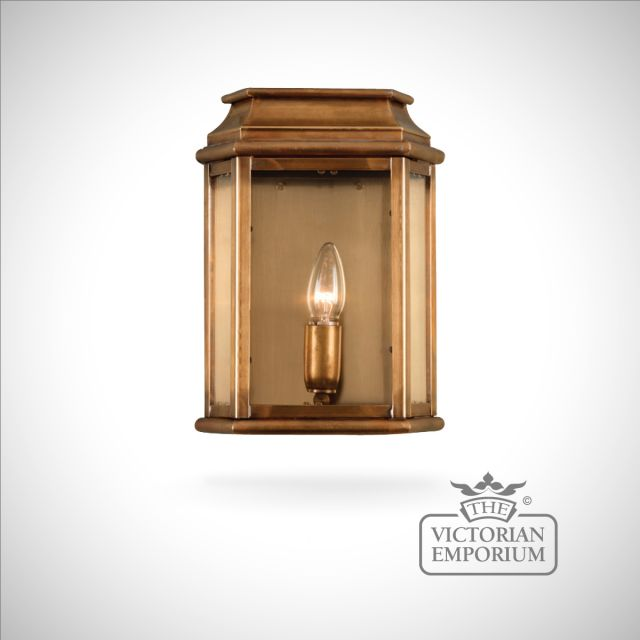Martins brass wall lantern - antique brass