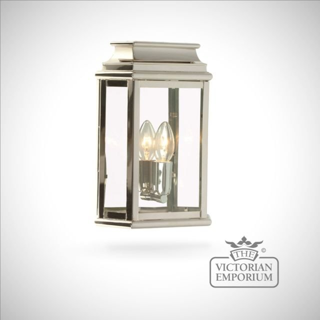 Martins brass wall lantern - polished nickel