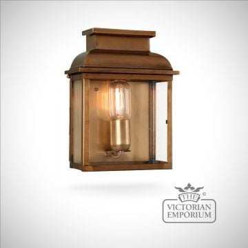 Bailey brass wall lantern - antique brass