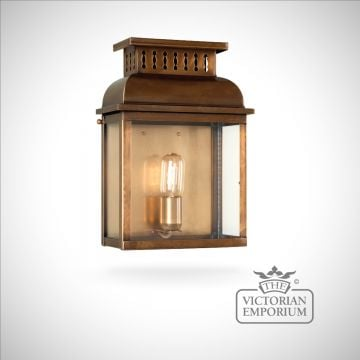 Westminster brass wall lantern - antique brass