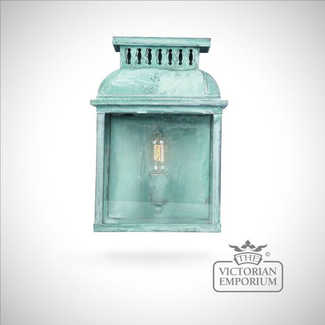 Westminster brass wall lantern - vert