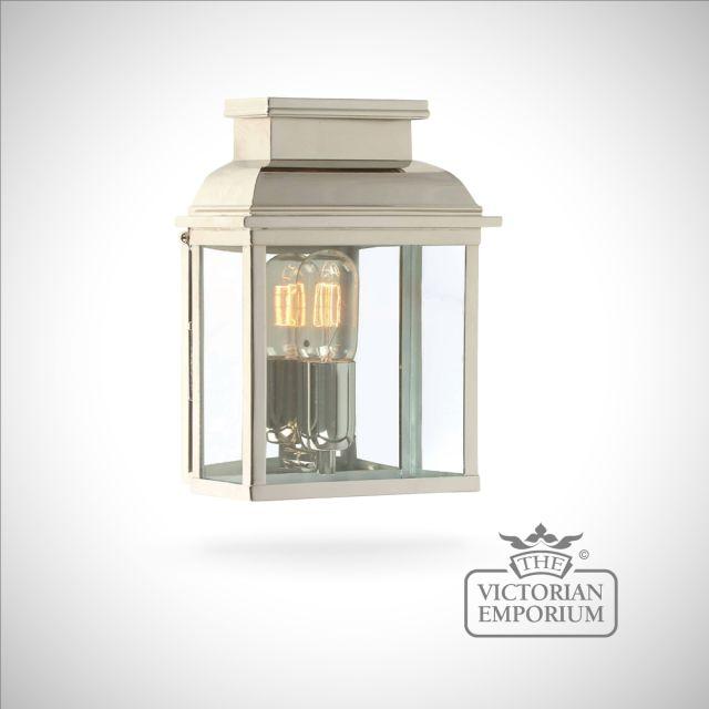Westminster brass wall lantern - polished nickel