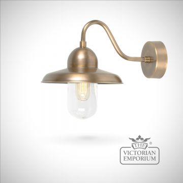 Somerton wall lantern - brass