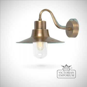 Sheldon wall lantern - brass