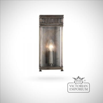 Holborn wall lantern in dark bronze - small