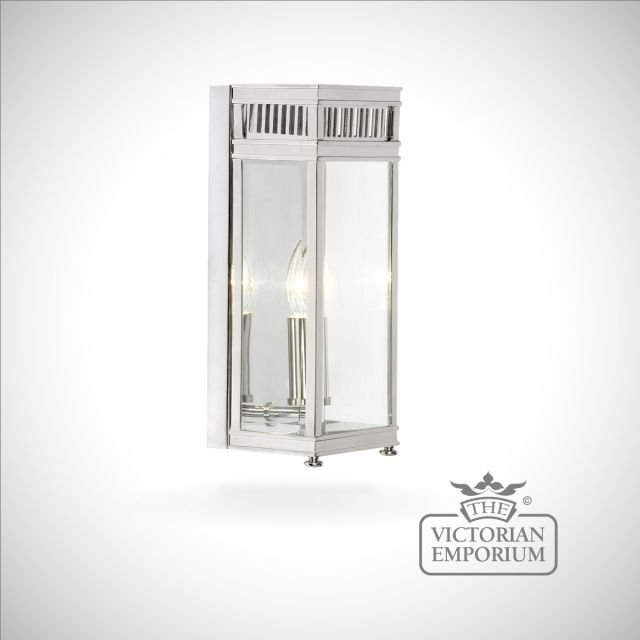 Holborn wall lantern in polished chrome - small