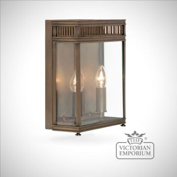 Holborn wall lantern in dark bronze - medium
