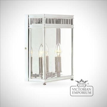 Holborn wall lantern in polished chrome - medium