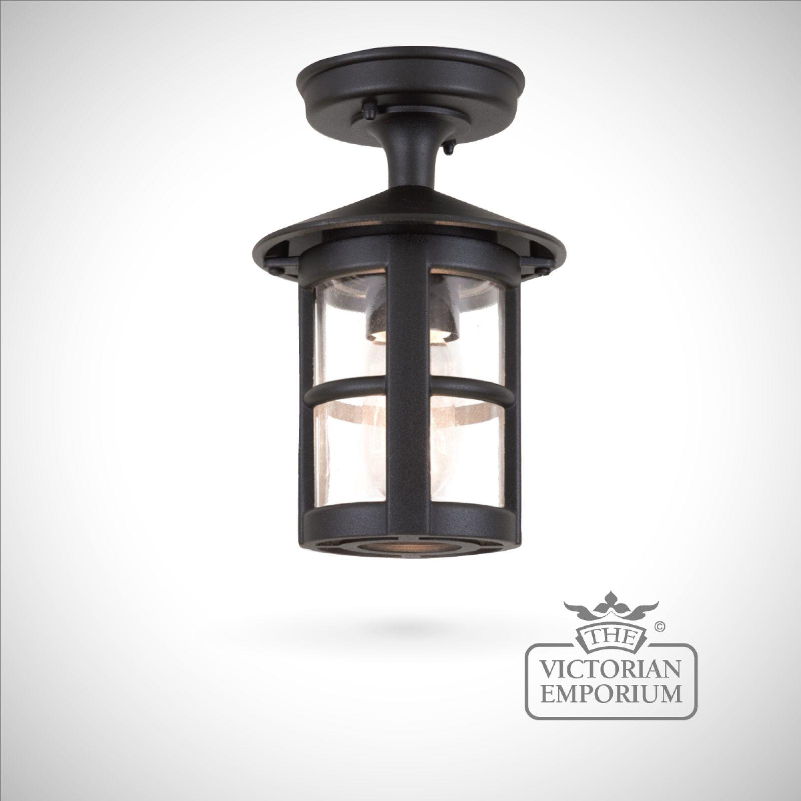 Hereford Plain Rigid Tube Lantern Exterior Ceiling Lights