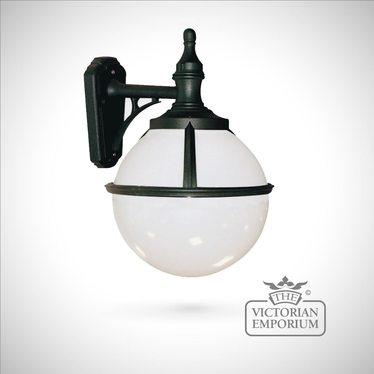 Globe wall lantern : Outdoor Wall Lights