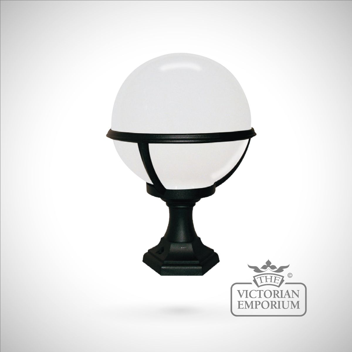 Alex Pedestal Light: Globe Pedestal/porch Lantern