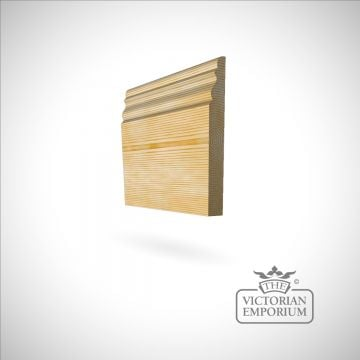 Ogee Skirting 168mm x 21mm in Oak and Redwood (pine)
