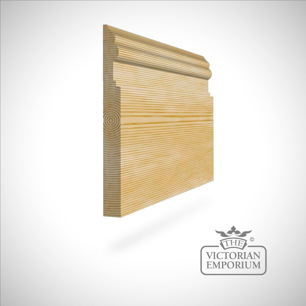Large curved and straight period skirting 215 x 21mm | Skirting