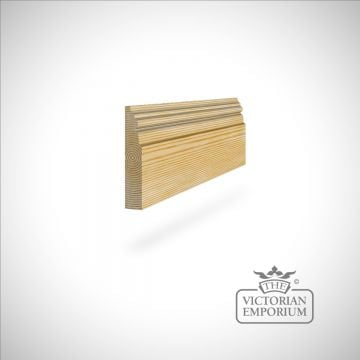 Skirting 117 x 21mm - with ridged profile