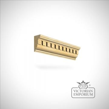 Wooden dentil coving 82 x 44mm