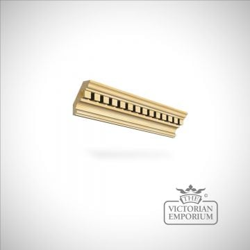 Wooden dentil coving 106 x 26mm