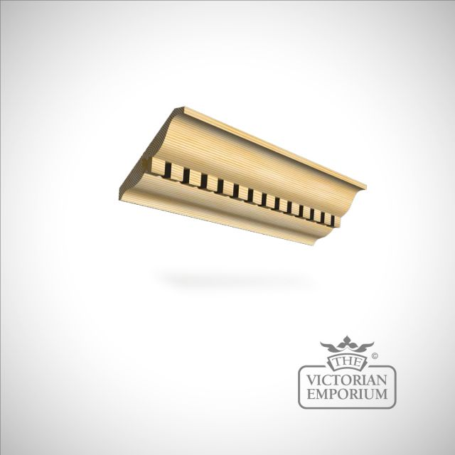 Wooden dentil coving 143 x 21mm