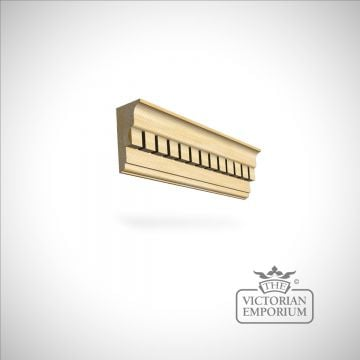 Wooden dentil coving 140 x 66mm