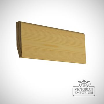 Round and chamfered skirting 94 X 19mm