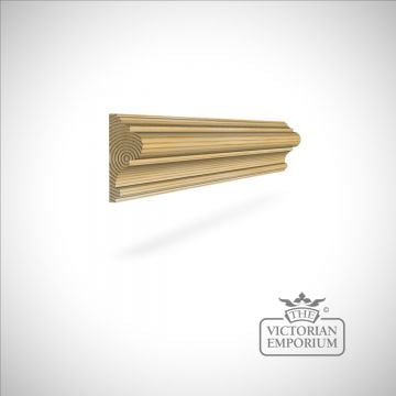Wooden Dado Rail Moulding in Oak, Ash & Redwood (pine) 70 x 28mm (profile 1)