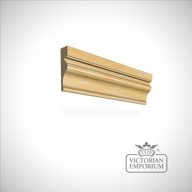 Wooden Door Architrave 78mm x 21mm in Redwood (pine)
