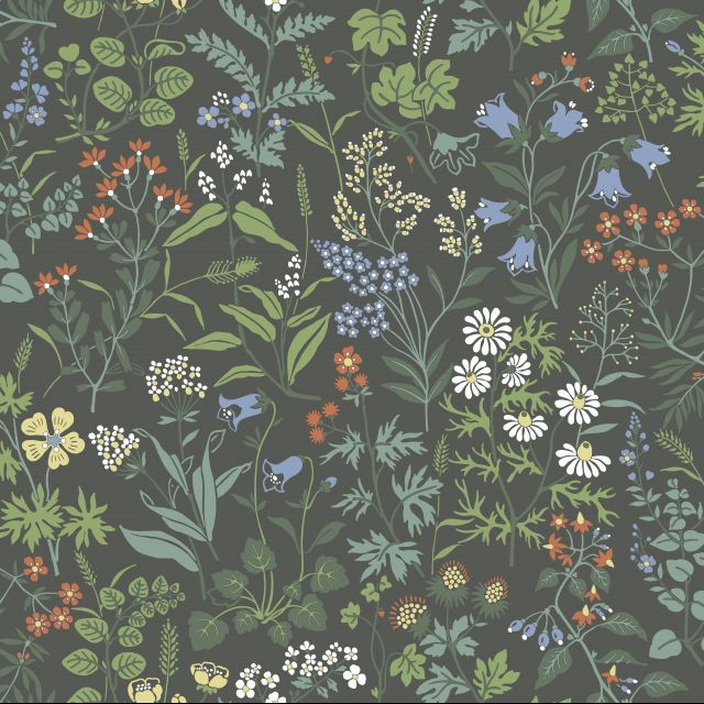 Morris inspired floral wallpaper