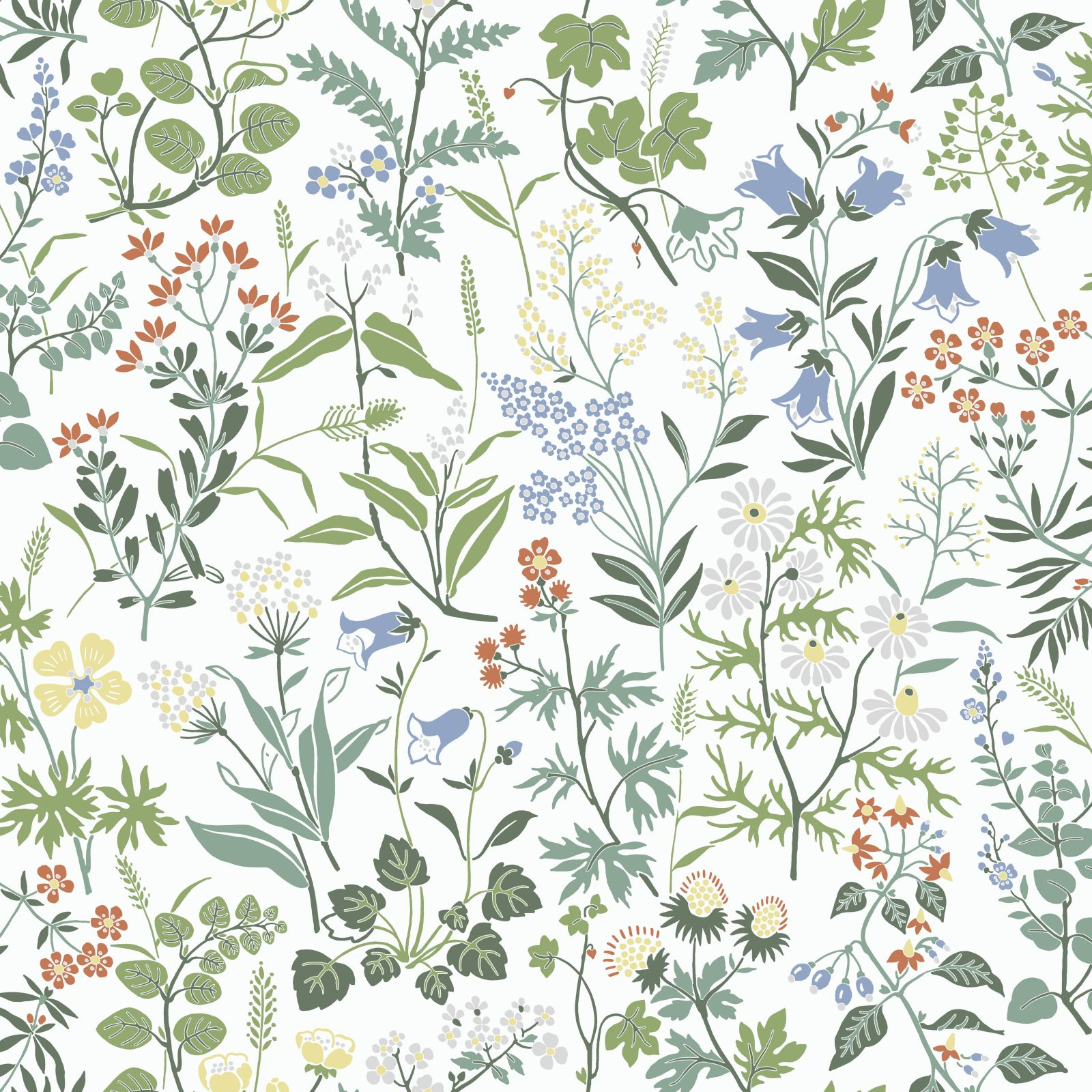 Morris Inspired Floral Wallpaper Flowered And Botanical Papers