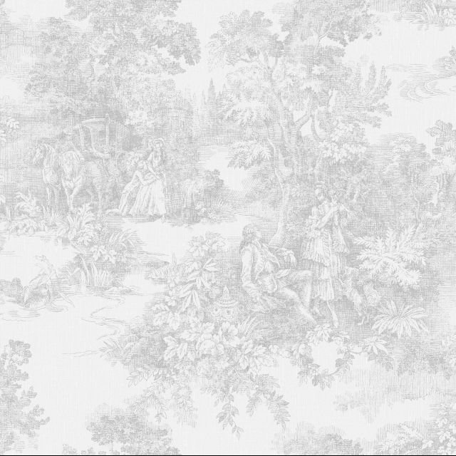 French Romantic Landscape wallpaper in a variety of colourways