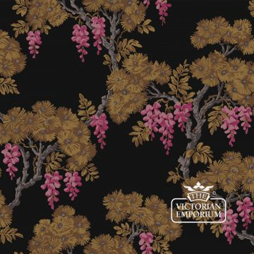 Wisteria wallpaper in choice of 3 colours