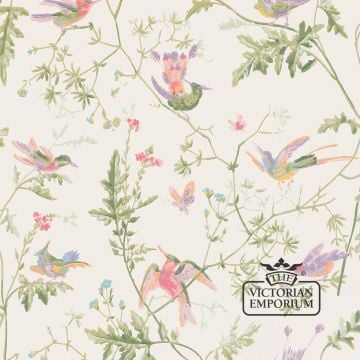 Hummingbirds wallpaper in choice of five colourways