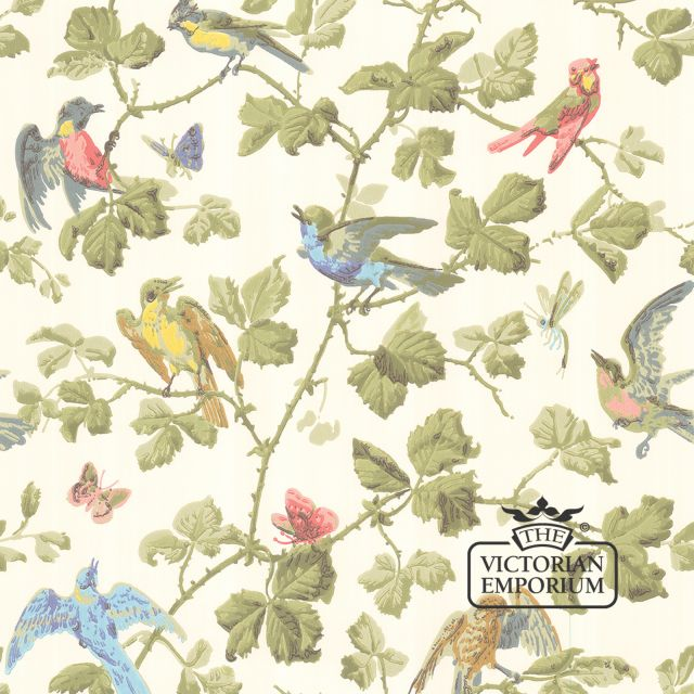 Winter birds wallpaper in choice of four colourways